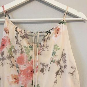 Sweet Storm Dresses - Blush Floral Maxi Dress
